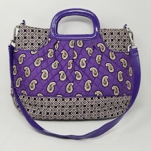 Vintage Vera Bradley Purple Paisley Tote Bag